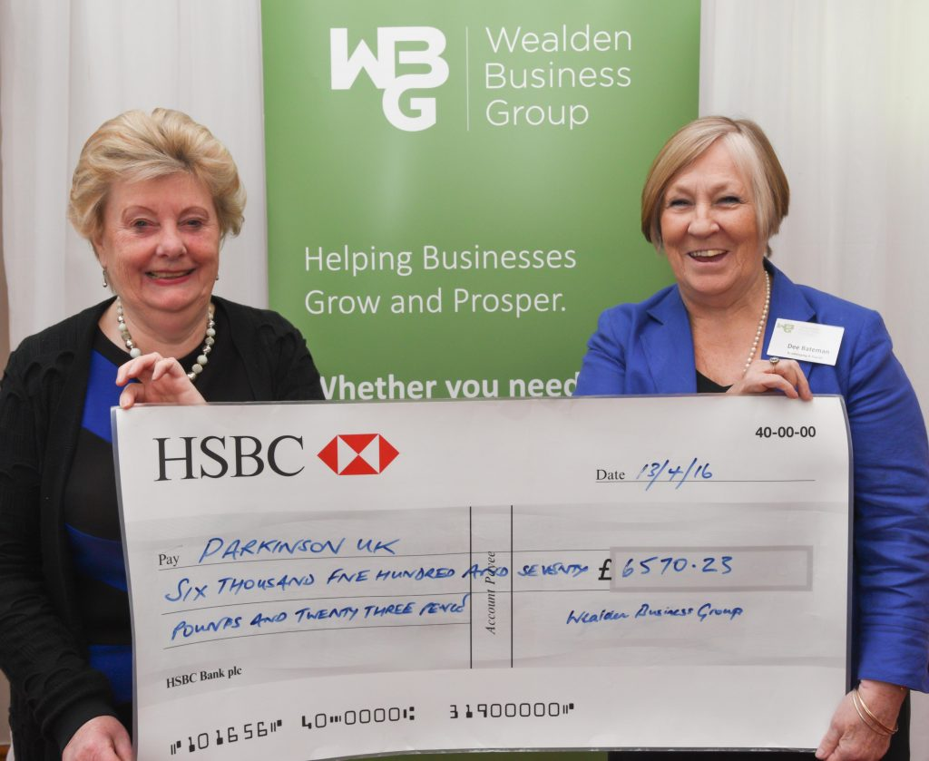 WBG charity cheque presentation 13-4-16