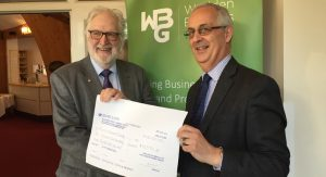 Wealden Business Group's record charity cheque