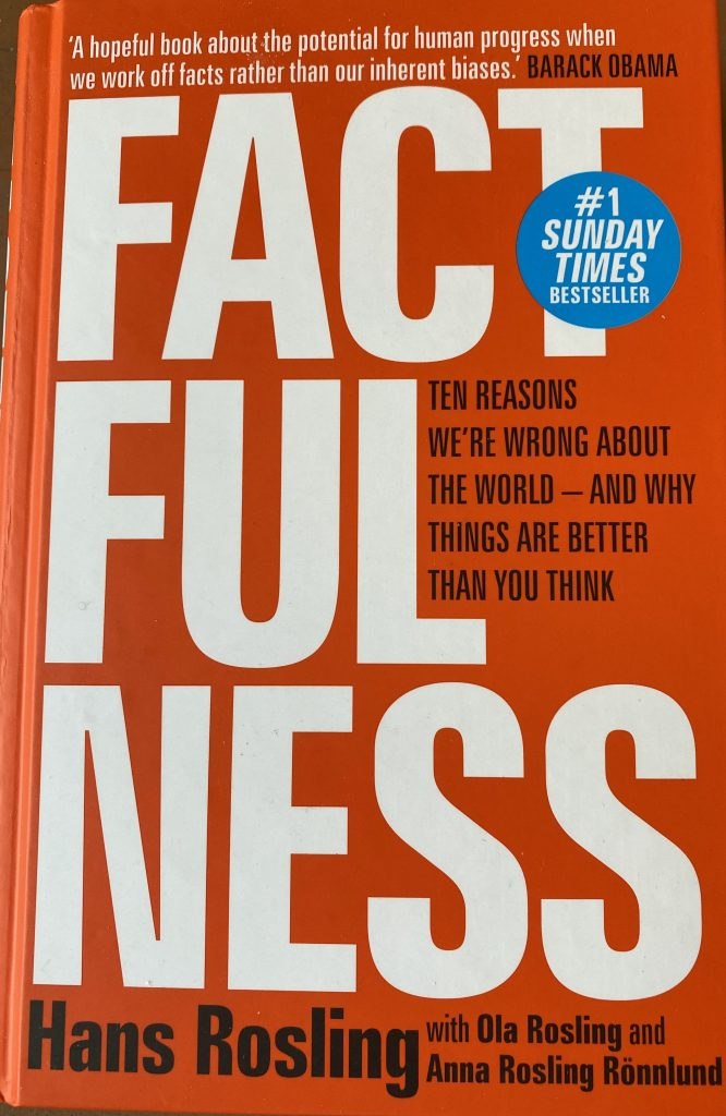 Factfullness by Hans Rosling Book Cover photo